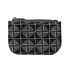 Pattern Op Art Black White Grey Mini Coin Purses