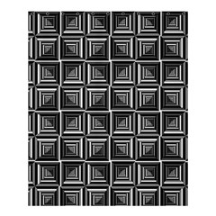 Pattern Op Art Black White Grey Shower Curtain 60  X 72  (medium)