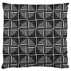 Pattern Op Art Black White Grey Large Flano Cushion Case (two Sides)