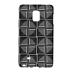 Pattern Op Art Black White Grey Samsung Galaxy Note Edge Hardshell Case