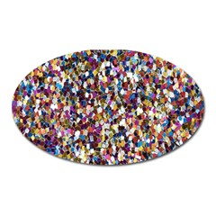 Pattern Abstract Decoration Art Oval Magnet