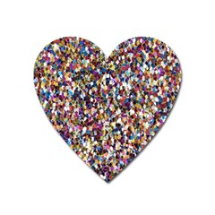 Pattern Abstract Decoration Art Heart Magnet by Nexatart