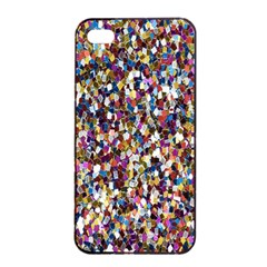 Pattern Abstract Decoration Art Apple Iphone 4/4s Seamless Case (black)