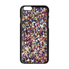 Pattern Abstract Decoration Art Apple Iphone 6/6s Black Enamel Case