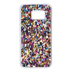 Pattern Abstract Decoration Art Samsung Galaxy S7 White Seamless Case