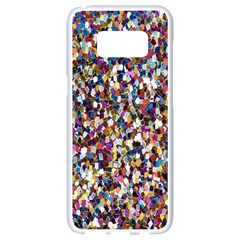 Pattern Abstract Decoration Art Samsung Galaxy S8 White Seamless Case
