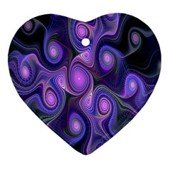 Abstract Pattern Fractal Wallpaper Heart Ornament (two Sides)
