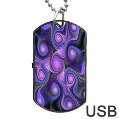 Abstract Pattern Fractal Wallpaper Dog Tag Usb Flash (one Side)