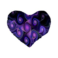 Abstract Pattern Fractal Wallpaper Standard 16  Premium Heart Shape Cushions by Nexatart