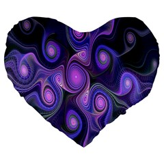 Abstract Pattern Fractal Wallpaper Large 19  Premium Heart Shape Cushions by Nexatart