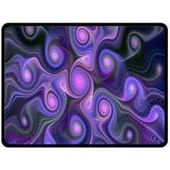 Abstract Pattern Fractal Wallpaper Double Sided Fleece Blanket (large)  by Nexatart
