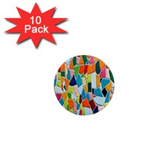 Mosaic Tiles Pattern Texture 1  Mini Magnet (10 Pack)