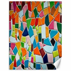 Mosaic Tiles Pattern Texture Canvas 12  X 16