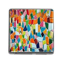 Mosaic Tiles Pattern Texture Memory Card Reader (square) by Nexatart