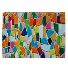 Mosaic Tiles Pattern Texture Cosmetic Bag (xxl) by Nexatart