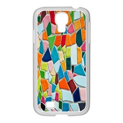 Mosaic Tiles Pattern Texture Samsung Galaxy S4 I9500/ I9505 Case (white)