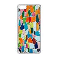Mosaic Tiles Pattern Texture Apple Iphone 5c Seamless Case (white) by Nexatart