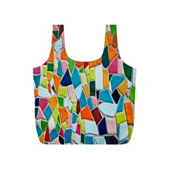 Mosaic Tiles Pattern Texture Full Print Recycle Bags (s)  by Nexatart