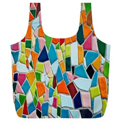 Mosaic Tiles Pattern Texture Full Print Recycle Bags (l)  by Nexatart