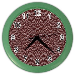 Design Pattern Abstract Color Wall Clocks by Nexatart