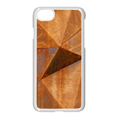 Steel Corten Steel Brown Steel Apple Iphone 8 Seamless Case (white)
