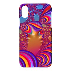 Amazing Fractal 5182b Apple Iphone X Hardshell Case by MoreColorsinLife
