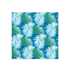 Palm Trees Tropical Beach Coastal Summer Blue Green Satin Bandana Scarf by CrypticFragmentsColors