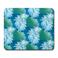 Palm Trees Tropical Beach Coastal Summer Blue Green Large Mousepads by CrypticFragmentsColors