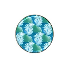 Palm Trees Tropical Beach Coastal Summer Blue Green Hat Clip Ball Marker (10 Pack) by CrypticFragmentsColors