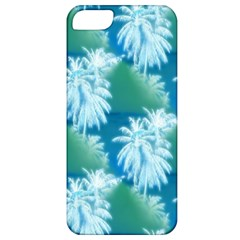 Palm Trees Tropical Beach Coastal Summer Blue Green Apple Iphone 5 Classic Hardshell Case by CrypticFragmentsColors