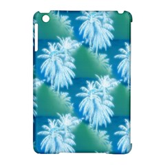 Palm Trees Tropical Beach Coastal Summer Blue Green Apple Ipad Mini Hardshell Case (compatible With Smart Cover) by CrypticFragmentsColors