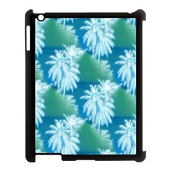 Palm Trees Tropical Beach Coastal Summer Blue Green Apple Ipad 3/4 Case (black) by CrypticFragmentsColors