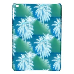Palm Trees Tropical Beach Coastal Summer Blue Green Ipad Air Hardshell Cases by CrypticFragmentsColors