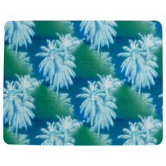 Palm Trees Tropical Beach Coastal Summer Blue Green Jigsaw Puzzle Photo Stand (rectangular) by CrypticFragmentsColors