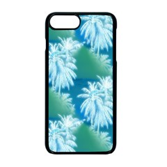Palm Trees Tropical Beach Coastal Summer Blue Green Apple Iphone 7 Plus Seamless Case (black) by CrypticFragmentsColors