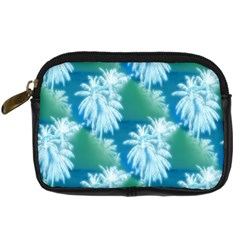 Palm Trees Tropical Beach Coastal Summer Blue Green Digital Camera Cases by CrypticFragmentsColors