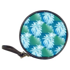 Palm Trees Tropical Beach Coastal Summer Blue Green Classic 20 Cd Wallets by CrypticFragmentsColors