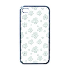 Pastel Floral Motif Pattern Apple Iphone 4 Case (black) by dflcprints
