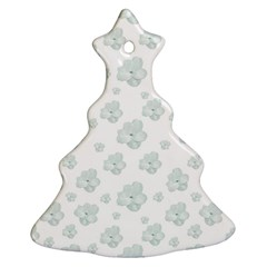 Pastel Floral Motif Pattern Christmas Tree Ornament (two Sides) by dflcprints