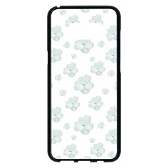 Pastel Floral Motif Pattern Samsung Galaxy S8 Plus Black Seamless Case