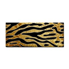 Golden Vector Embossed Golden Black Zebra Stripes Hand Towel