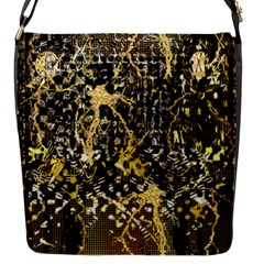 Retro Design In Gold And Silver Created By Kiekie Strickland Flipstylezdesigns Flap Messenger Bag (s) by flipstylezdes