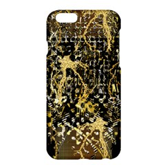 Retro Design In Gold And Silver Created By Kiekie Strickland Flipstylezdesigns Apple Iphone 6 Plus/6s Plus Hardshell Case by flipstylezdes