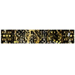 Retro Design In Gold And Silver Created By Kiekie Strickland Flipstylezdesigns Large Flano Scarf  by flipstylezdes