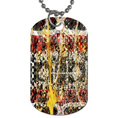 Retro Orange Black And White Liquid Gold  By Kiekie Strickland Dog Tag (two Sides) by flipstylezdes