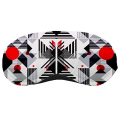 Retro Geometric Red And Black Triangles  Sleeping Masks by flipstylezdes