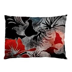 Beautiful Hibiscus Flower Design  Pillow Case (two Sides)