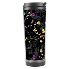 Beautiful Floral Swirl Brushes Vector Design Travel Tumbler by flipstylezdes