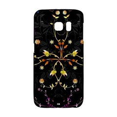 Beautiful Floral Swirl Brushes Vector Design Samsung Galaxy S6 Edge Hardshell Case by flipstylezdes