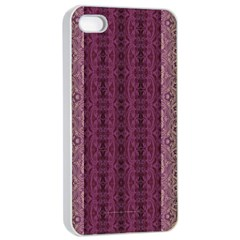 Beautiful Decorative Creative Purple Seamless Design By Kiekie Stricklnd Apple Iphone 4/4s Seamless Case (white)